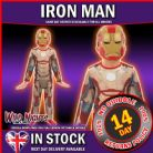 FANCY DRESS COSTUME ~ BOYS MARVEL AVENGERS CLASSIC IRON MAN 3 SM AGE 3-4